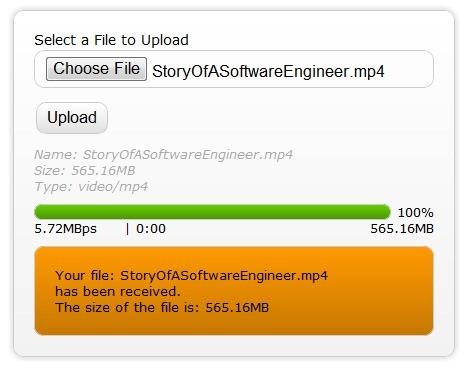 HTML5上传文件结束