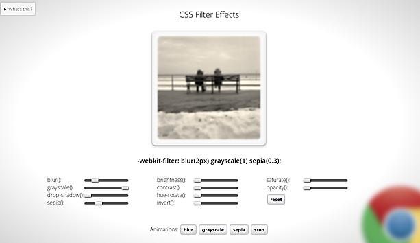CSS滤镜已在WebKit中支持
