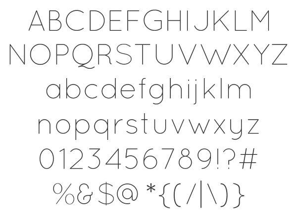 29款窄版字体分享