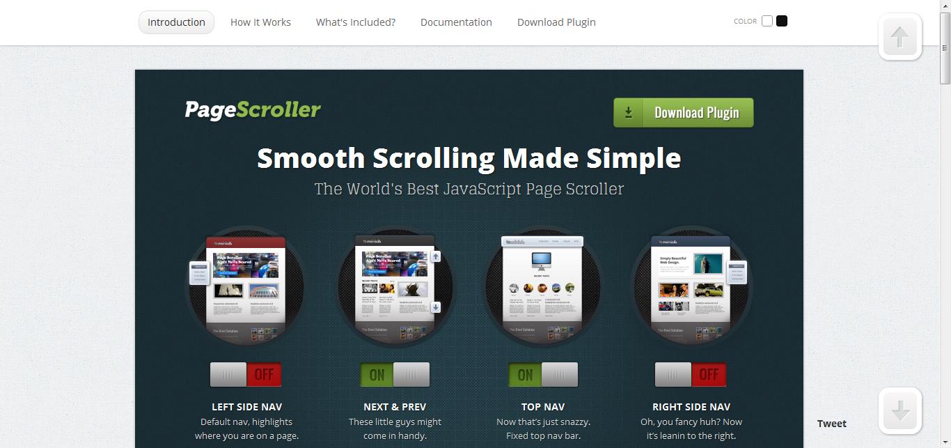 jQuery Page Scroller - 固顶元素的新选择