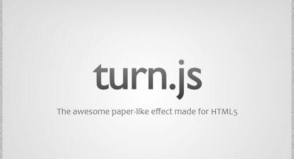 turn.js - HTML5的横翻页效果插件