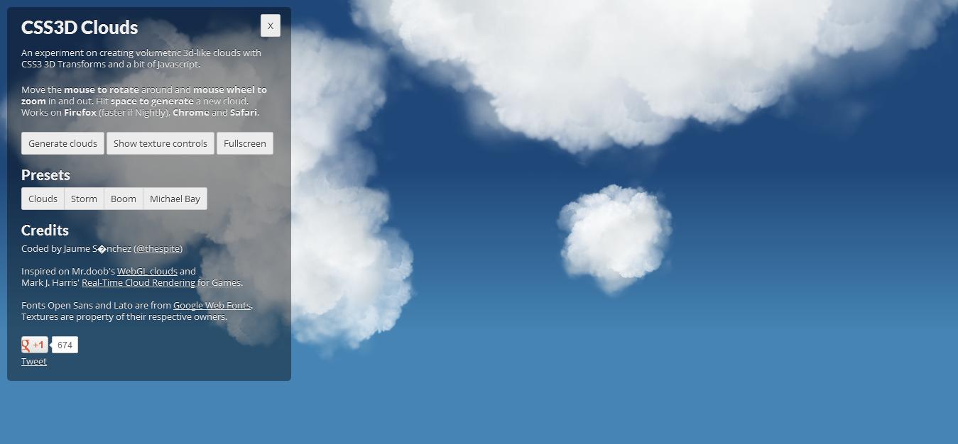 令人吃惊的CSS3云雾效果
