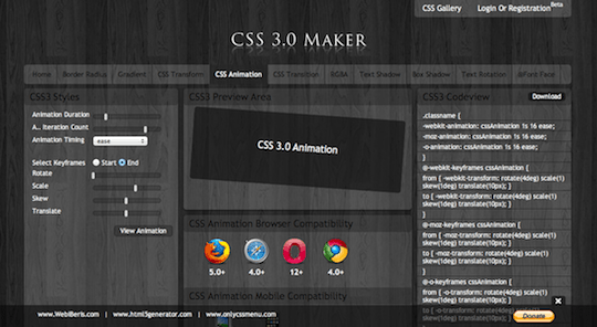CSS Maker Animation Generator