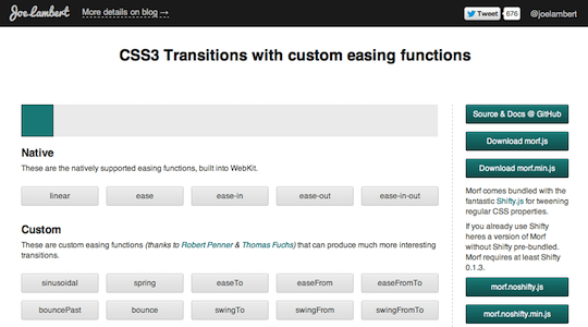 Morfjs CSS3 Transitions