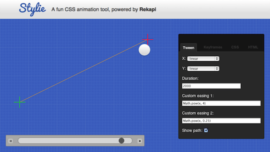 Stylie CSS animation generator